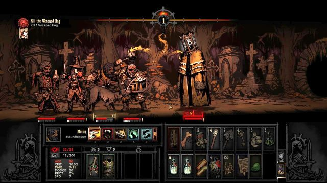Collector, just like the rest of the bosses is a ghastly figure. - Collector | Bosses - Bosses - Darkest Dungeon Game Guide & Walkthrough