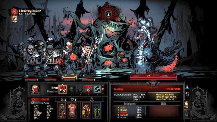 The Countess Bosses The Crimson Court Darkest Dungeon Game