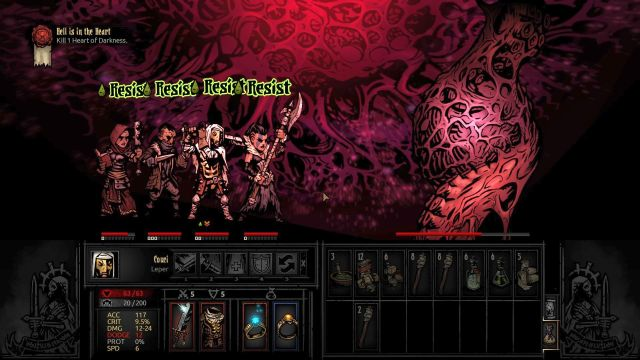 The enemy has attack that poisons the entire party, but it has low chances of success - Hell is in the Heart | Walkthrough - Darkest Dungeon location - Walkthrough - Darkest Dungeon location - Darkest Dungeon Game Guide & Walkthrough
