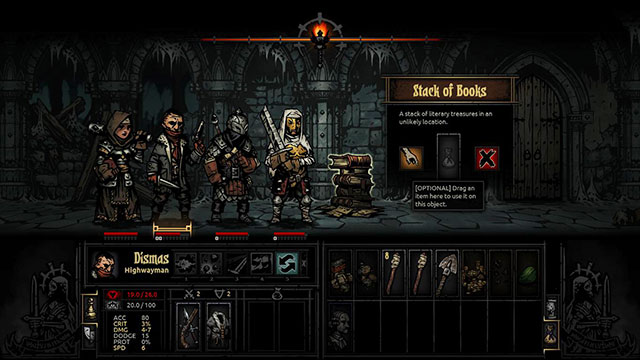 You can find many interesting items in the dungeons - Exploration | Dungeons - Dungeons - Darkest Dungeon Game Guide & Walkthrough