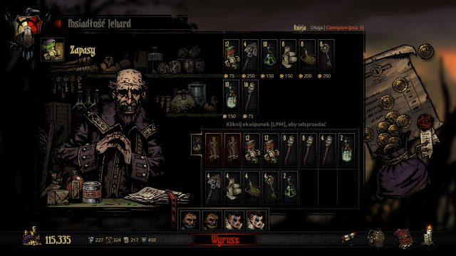 Remember to purchase the right provisions before venturing on a mission. - Provisions | Game mechanics - Game mechanics - Darkest Dungeon Game Guide & Walkthrough