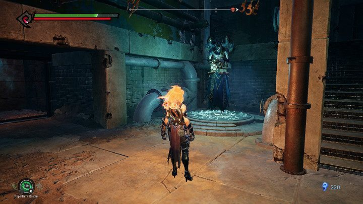 Get to the stairs that led to the Boss earlier and go up - Pipeline Exit | Darksiders 3 Walkthrough - Walkthrough - Darksiders 3 Guide