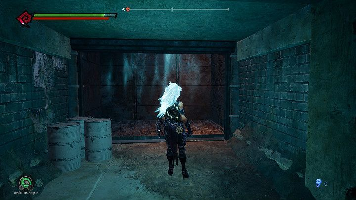 Go to the elevator shaft and use the new power to stick to the wall and jump all the way to the top - Pipeline Exit | Darksiders 3 Walkthrough - Walkthrough - Darksiders 3 Guide