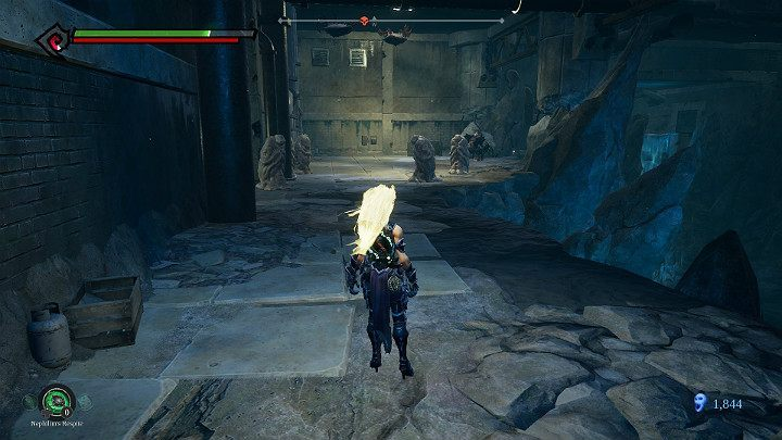 There are enemies in the statues, so watch out - Pipeline Exit | Darksiders 3 Walkthrough - Walkthrough - Darksiders 3 Guide