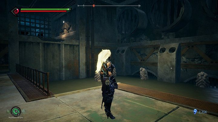 When you finish dealing with the statues, jump to the upper level - Pipeline Exit | Darksiders 3 Walkthrough - Walkthrough - Darksiders 3 Guide