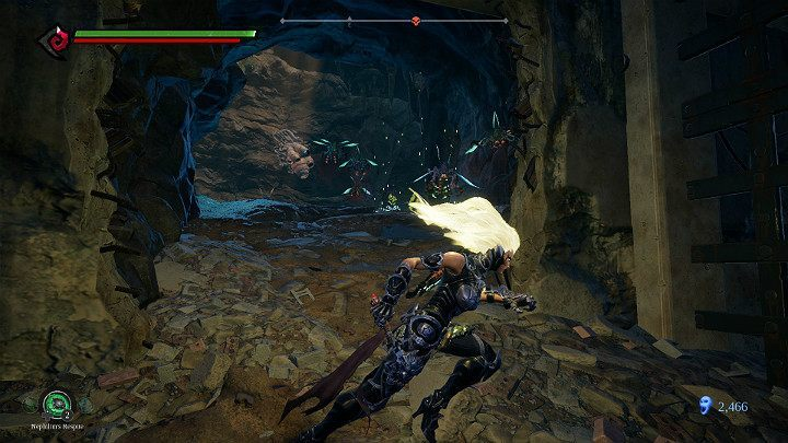 You will reach a cave with two nests of insects and will be attacked by a cloud of flying enemies - Pipeline Exit | Darksiders 3 Walkthrough - Walkthrough - Darksiders 3 Guide