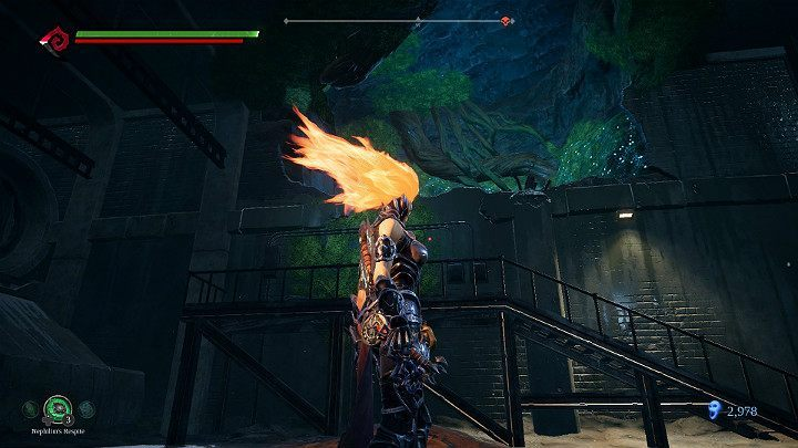 Next, go through the gap in the wall - Pipeline Exit | Darksiders 3 Walkthrough - Walkthrough - Darksiders 3 Guide