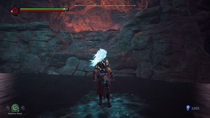 Walk on water and take note of the passage on the right - Pipeline Exit | Darksiders 3 Walkthrough - Walkthrough - Darksiders 3 Guide
