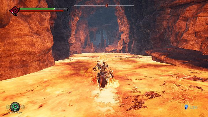 Go along the lava river, and to the right - Pipeline Exit | Darksiders 3 Walkthrough - Walkthrough - Darksiders 3 Guide