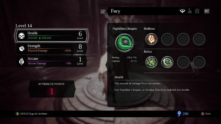 Attributes determine the combat capabilities of your Hero - Character Development in Darksiders 3 - Game basics - Darksiders 3 Guide