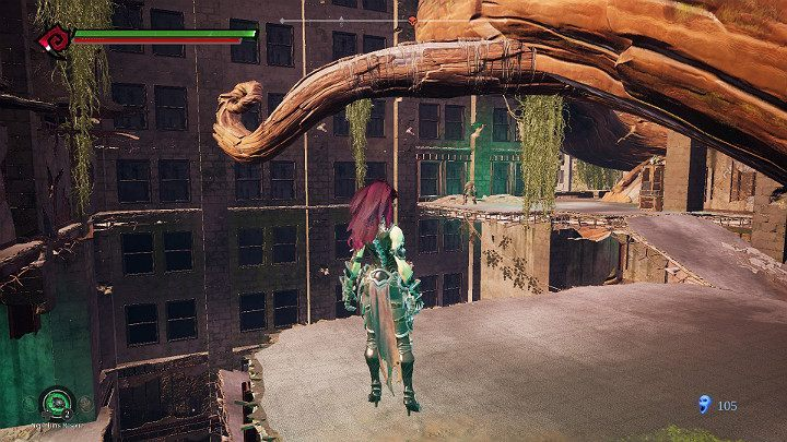 You will get to the shelf visible a bit further using a simple trick with a weapon - Haven | Darksiders 3 Walkthrough - Walkthrough - Darksiders 3 Guide