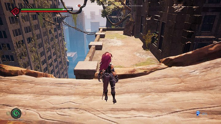 After defeating your opponents turn right and jump on the balcony shown in the picture above - Haven | Darksiders 3 Walkthrough - Walkthrough - Darksiders 3 Guide