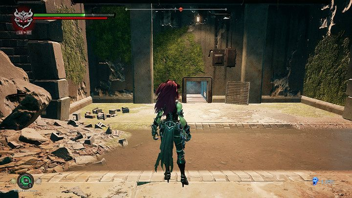 Continue your journey with a narrow passage in the wall - Haven | Darksiders 3 Walkthrough - Walkthrough - Darksiders 3 Guide