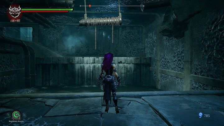 After defeating your opponents, jump up the platform again and then jump to the other side of the canal - Nether | Darksiders 3 Walkthrough - Walkthrough - Darksiders 3 Guide
