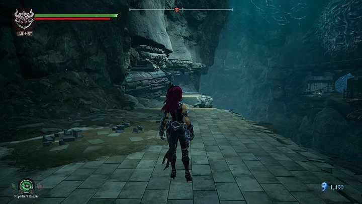 Go to the edge of the precipice and turn left - Nether | Darksiders 3 Walkthrough - Walkthrough - Darksiders 3 Guide