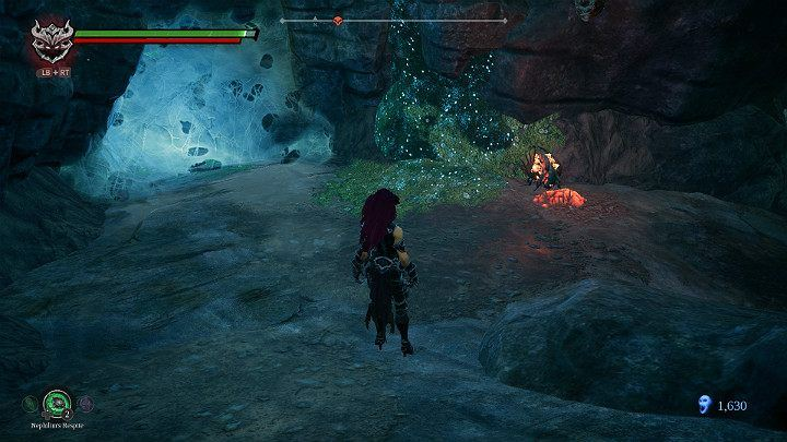 When the beetle absorbs the substance, pick it up of the ground - Nether | Darksiders 3 Walkthrough - Walkthrough - Darksiders 3 Guide