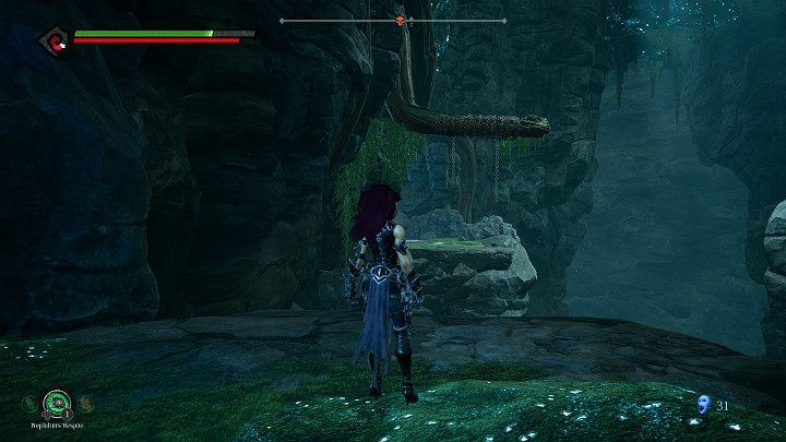 Jump to the other side of the precipice by using weapons - Nether | Darksiders 3 Walkthrough - Walkthrough - Darksiders 3 Guide