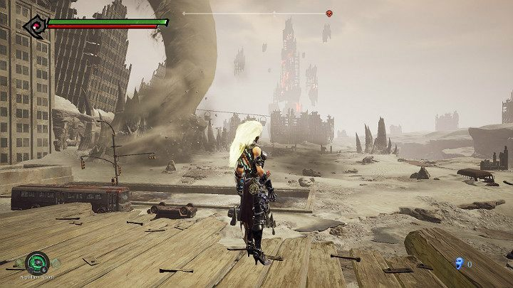 Wait until the hurricane moves to the point shown in the picture above - The Lowlands | Darksiders 3 Walkthrough - Walkthrough - Darksiders 3 Guide