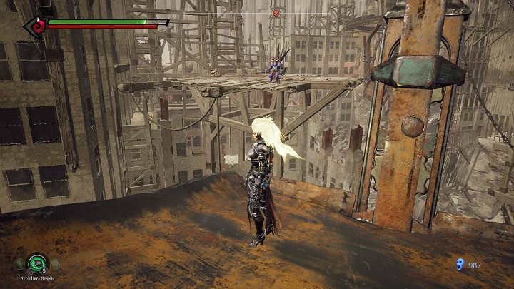 Jump on the platform on the left side - The Lowlands | Darksiders 3 Walkthrough - Walkthrough - Darksiders 3 Guide