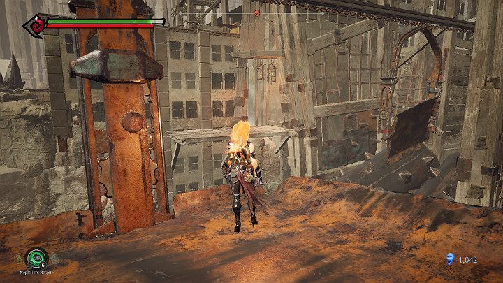 Jump on the next platform and jump out of it when you are close to the pump shown in the picture above - The Lowlands | Darksiders 3 Walkthrough - Walkthrough - Darksiders 3 Guide