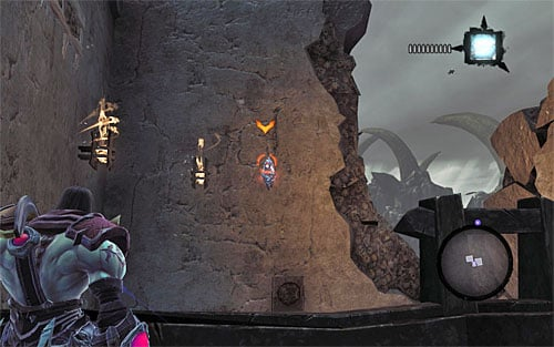 2) You can find the stone in the large tower to the south-east (screenshot 1) - Power Stonebites locations - The Kingdom of the Dead - Sticks and Stones - Darksiders II - Game Guide and Walkthrough