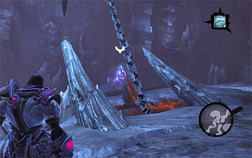 1) You can find the stone in one of the first caverns of Boneriven, which you can access by taking one of two paths, and in which you need to use shadowbombs - Mystic Stonebites locations - The Kingdom of the Dead - Sticks and Stones - Darksiders II - Game Guide and Walkthrough