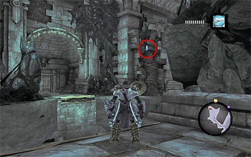 1) The stone is lodged in the wall right of the entrance to the Shattered Forge, one of the optional dungeons in the game - Mystic Stonebites locations - Forge Lands - Sticks and Stones - Darksiders II - Game Guide and Walkthrough