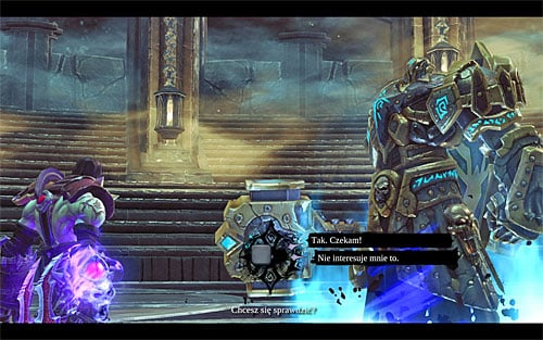 Upon arriving at the Crucible, listen carefully to the fight manager as he explains the rules of this place - The Crucible - Other - Darksiders II - Game Guide and Walkthrough