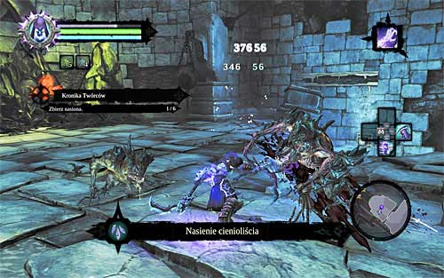 Find an interactive edge on one of the nearby walls - Shattered Forge - Additional Locations - Darksiders II - Game Guide and Walkthrough