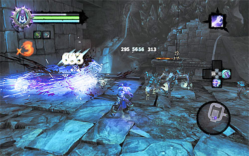 Go through the hallway leading west, and wall-run once you reach a gap - there are two ledges to hold on to on the way - Shattered Forge - Additional Locations - Darksiders II - Game Guide and Walkthrough