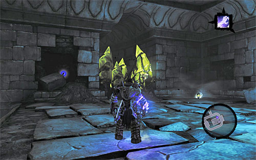 Return to the room where you fought Stalkers, grab another dormant shadowbomb and use it to unlock a nearby passage (the above screen) - Shattered Forge - Additional Locations - Darksiders II - Game Guide and Walkthrough