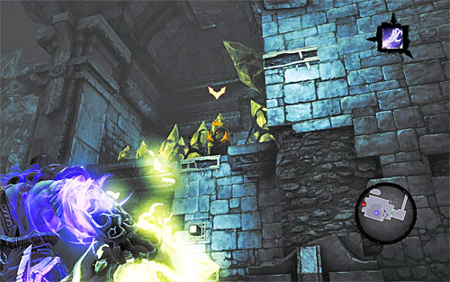 Grab another shadowbomb and jump down to the bottom - Shattered Forge - Additional Locations - Darksiders II - Game Guide and Walkthrough