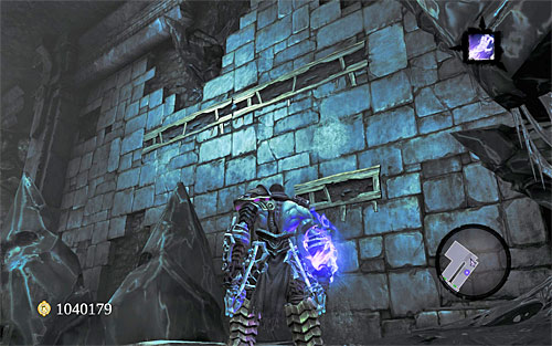 Open the door and move forth, past a gap in the floor - Shattered Forge - Additional Locations - Darksiders II - Game Guide and Walkthrough