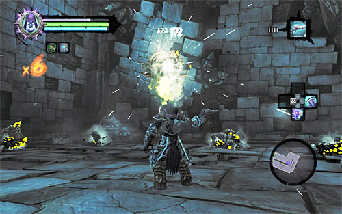 Right from the very start, focus solely on attacking the Construct Sentinel - Shattered Forge - Additional Locations - Darksiders II - Game Guide and Walkthrough