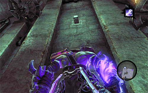 Destroy the objects lying around to get a Boatman Coin, then start going up where shown on the screen, climbing the pegs as they go - Visit the Soul Arbiter's Maze - The Chancellor's Quarry - Darksiders II - Game Guide and Walkthrough