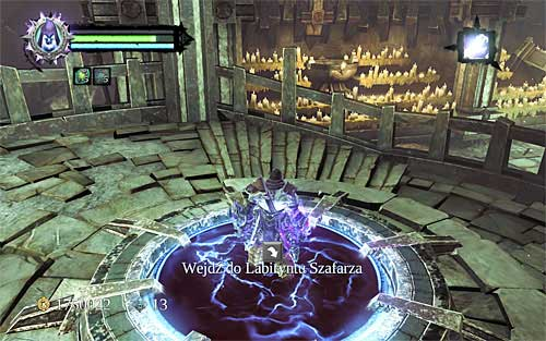 When you're done, approach the portal illustrated above and use it to go to the actual maze - Read the mysterious tome - The Chancellor's Quarry - Darksiders II - Game Guide and Walkthrough