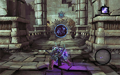 To explore a level, go through portals selected based on the information in the acquired Soul Arbiter's Scrolls, or in this game guide - How to explore the levels - The Chancellor's Quarry - Darksiders II - Game Guide and Walkthrough