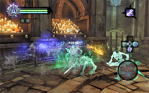 The third level of the Soul Arbiter's Maze involves fighting Skeletal Warriors, Skeletal Champions, Liches and whatever creatures they summon - Level III - Opposition - The Chancellor's Quarry - Darksiders II - Game Guide and Walkthrough