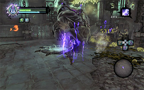 On the eight level of the Soul Arbiter's Maze you're going to have to break through Skeletal Warriors, Vengeful Spirits, Wraiths and Tormentors - Level VIII - Inversion - The Chancellor's Quarry - Darksiders II - Game Guide and Walkthrough