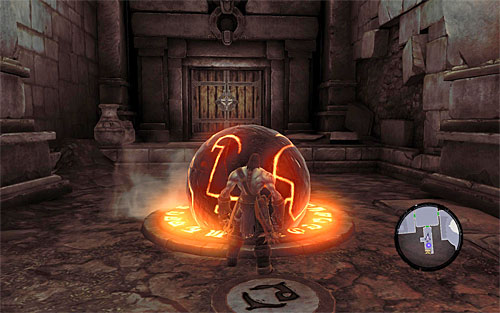 In the newly unlocked room you'll have a simple puzzle to solve - Restore the Fire of the Mountain (2) - The Fire of the Mountain - Darksiders II - Game Guide and Walkthrough