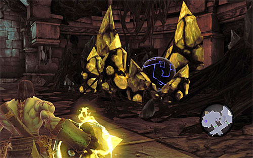 Now we can devote our complete attention to the puzzle - Restore the Fire of the Mountain (2) - The Fire of the Mountain - Darksiders II - Game Guide and Walkthrough
