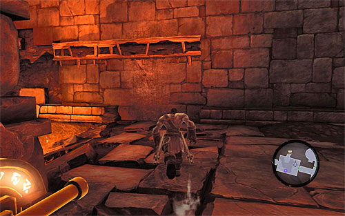 Another puzzle waits for you behind them, this time time-connected - Restore the Fire of the Mountain (2) - The Fire of the Mountain - Darksiders II - Game Guide and Walkthrough