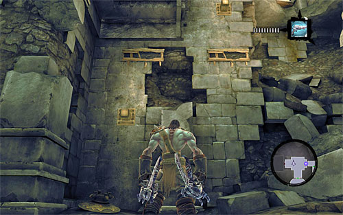 Pick up items dropped by the enemies and go through the only available door - Wake the Construct (2) - To Move a Mountain - Darksiders II - Game Guide and Walkthrough