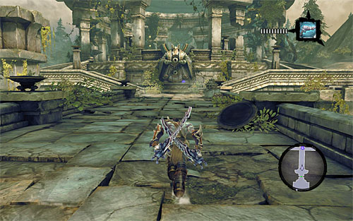 Make sure you've taken all valuable items and use the west door - Wake the Construct (2) - To Move a Mountain - Darksiders II - Game Guide and Walkthrough