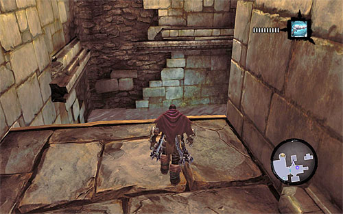 Find the wall with an interactive edge and find your way to it - Wake up the Keeper (1) - The Heart of the Mountain - Darksiders II - Game Guide and Walkthrough