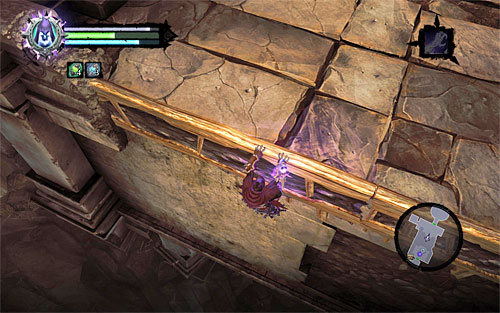 Return to the previous area and approach it the gap in your ledge and Karn - Wake up the Keeper (2) - The Heart of the Mountain - Darksiders II - Game Guide and Walkthrough
