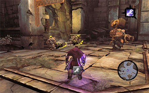 Return to the area with the door that has been locked so far - Wake up the Keeper (2) - The Heart of the Mountain - Darksiders II - Game Guide and Walkthrough