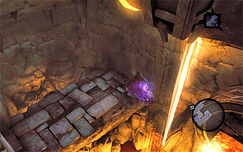 Return to the lower edge and continue left by wall running along the wall - Wake up the Keeper (2) - The Heart of the Mountain - Darksiders II - Game Guide and Walkthrough