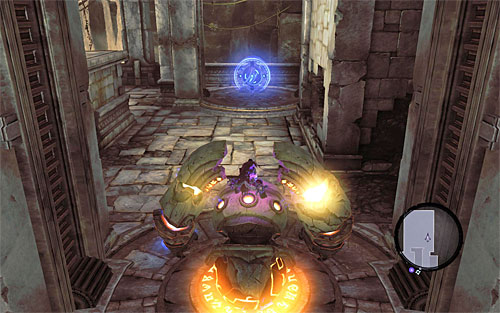 After you eliminate the enemies explore the area and find yet another Boatman Coin - Wake up the Keeper (2) - The Heart of the Mountain - Darksiders II - Game Guide and Walkthrough