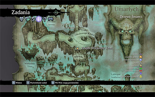 Start with opening the world map in order to establish the current destination (the above screenshot) - Find the Eternal Throne (1) - The Lord of Bones - Darksiders II - Game Guide and Walkthrough